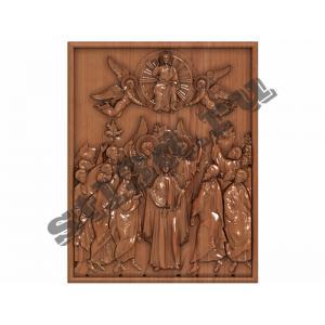 022 Икона Богоматерь с апостолами (не каноническая)