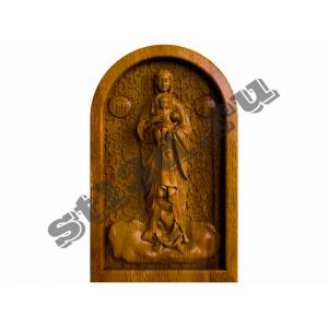 292 Икона Богородица с текстурой